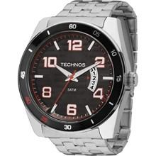 Relógio Technos Racer Masculino Prata Preto 2115KSS/1P