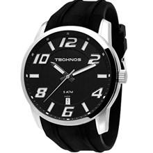 Relógio Technos Racer Masculino Prata preto 2315ZY/8P
