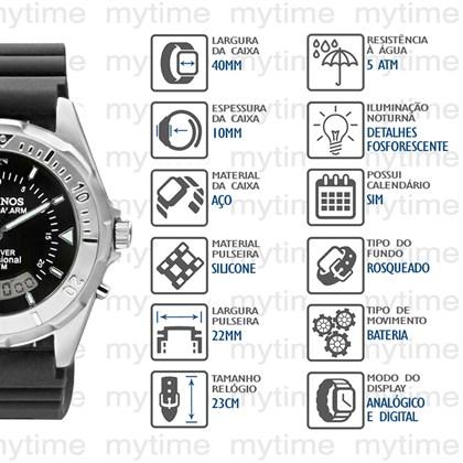 7d9c935ea69 Relógio Technos Skydiver Masculino T20562 8P - My Time