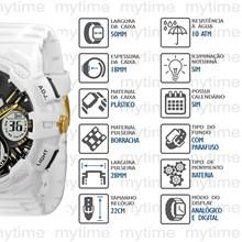 Relógio X-Games Masculino Ana-Digi Branco XMPPA183 B2BX