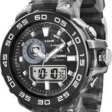 Relógio X-Games Masculino Ana-Digi Camuflado Cinza XMPPA170 BXGP