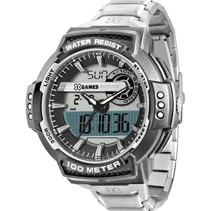 c819a9a93b9 Relógio X-Games Masculino Ana-Digi Prata Preto XMPSA020 BXSX - My Time