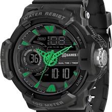 Relógio X-Games Masculino Ana-Digi Preto Verde XMPPA176 PXPX