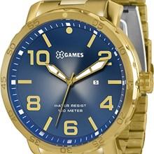 Relógio X-Games Masculino Analógico Dourado Azul XMGS1004 D2KX