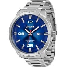 Relógio X-Games Masculino Analógico Prata Azul XMSS1032 D2SX