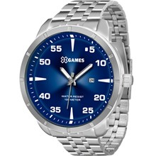 Relógio X-Games Masculino Analógico Prata Azul XMSS1033 D2SX