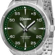 Relógio X-Games Masculino Analógico Prata Verde XMSS1033 E2SX