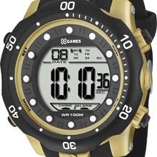 Relógio X-Games Masculino Digital Dourado Preto XMPPD356 BXPX