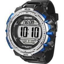 Relógio X-Games Masculino Digital Preto Azul Cinza XMPPD404 BXPX
