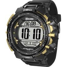 Relógio X-Games Masculino Digital Preto Dourado XMPPD403 BXPX